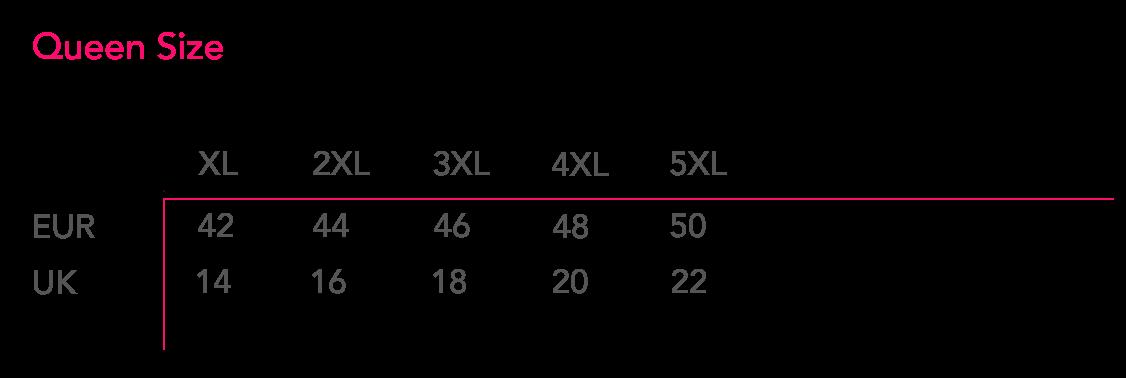 Plussize 1X 5X - Размеры