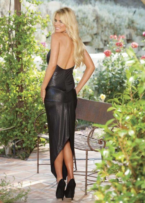 20501 img.php  500x700 - Длинное платье металлик с аппликацией