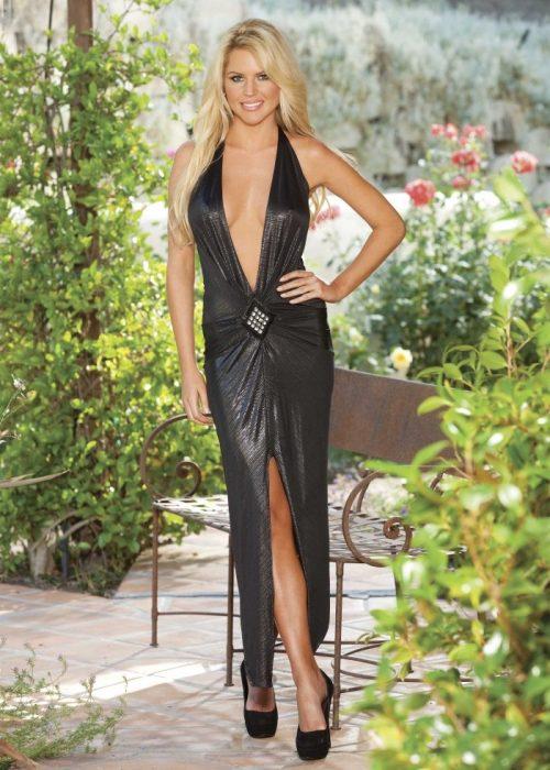 20501img.php  500x700 - Длинное платье металлик с аппликацией