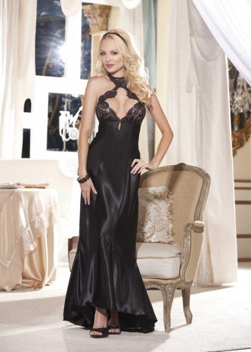 20530img.php  500x700 - Длинное ночное платье с кружевным лифом
