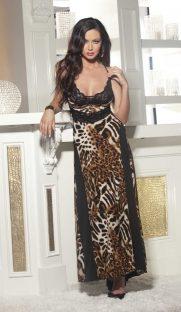 3244img.php  181x312 - Леопардовое ночное длинное платье