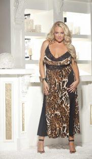 x3244 181x312 - Леопардовое ночное платье большого размера