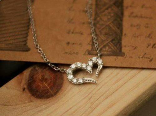 "009s  500x372 - Ожерелье ""Сердце"" с кристаллами серебро"