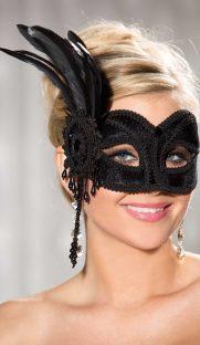918 181x312 - Вельветовая маска с перьями