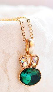 """018  181x312 - Ожерелье """"Кролик"""" из горного хрусталя"""