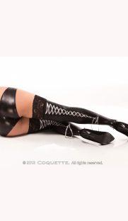 c D1732 181x312 - Глянцевые чулки с шнуровкой сзади большого размера