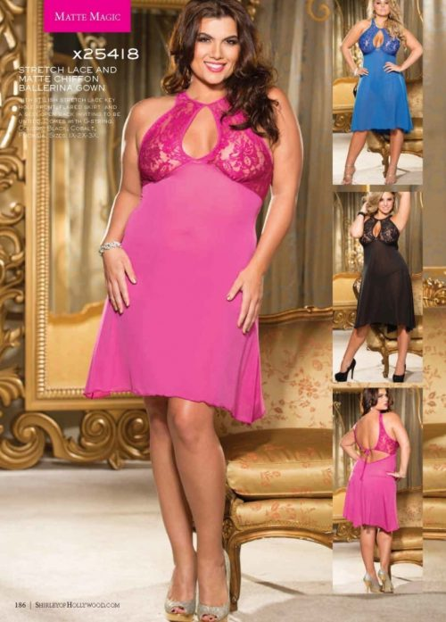 X25418 1 500x697 - Оригинальное ночное платье с кружевным лифом