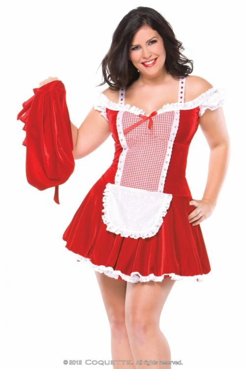 c M6111plus 1 500x750 - Аппетитная красная шапочка игровой костюм