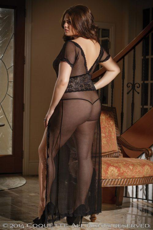 c 1431plus 111 500x750 - Великолепное сетчатое платье большого размера