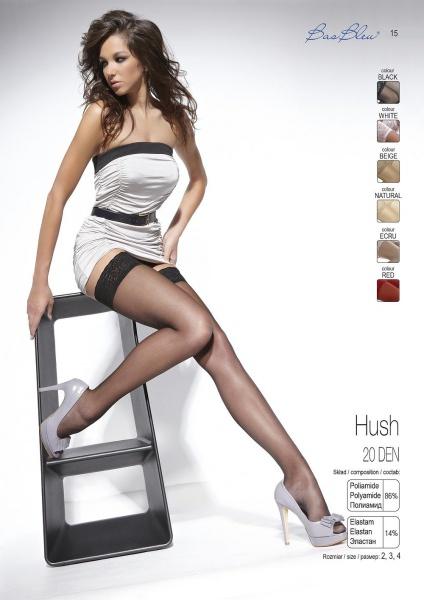 Hush BB 20 den - Чулки Hush BB на силиконе большого размера