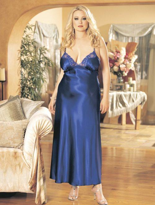 X20300 500x660 - Длинное платье из шармеза большого размера