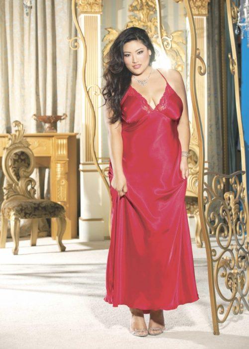 X20300 1 500x701 - Длинное платье из шармеза большого размера