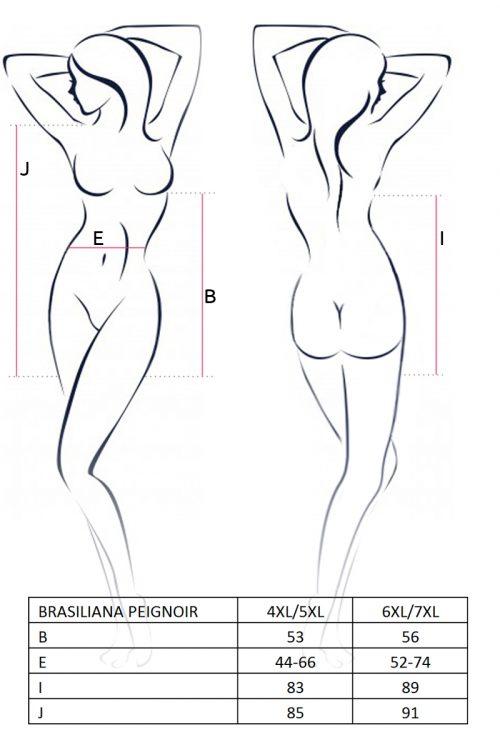BRASILIANA PEIGNOIR size 500x750 - Сексуальный пеньюар Passion BRASILIANA PEIGNOIR большого размера