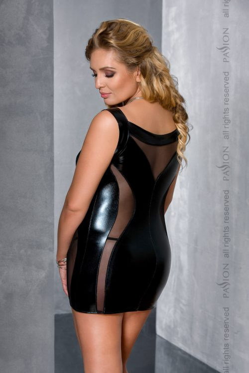 DONATA CHEMISE black XL 500x750 - Брутальное платье со шнуровкой DONATA CHEMISE большого размера