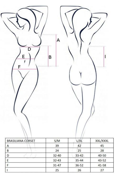 brasiliana corset chernyy 3600 500x750 - Корсет с кружевными вставками BRASILIANA CORSET Passion большого размера