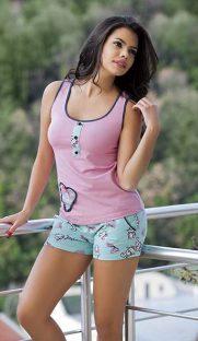 4100 181x312 - Комплект майка и шорты розовый