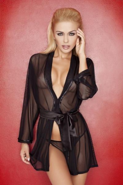 Aisha DK halat - Прозрачный халат Aisha DK большого размера