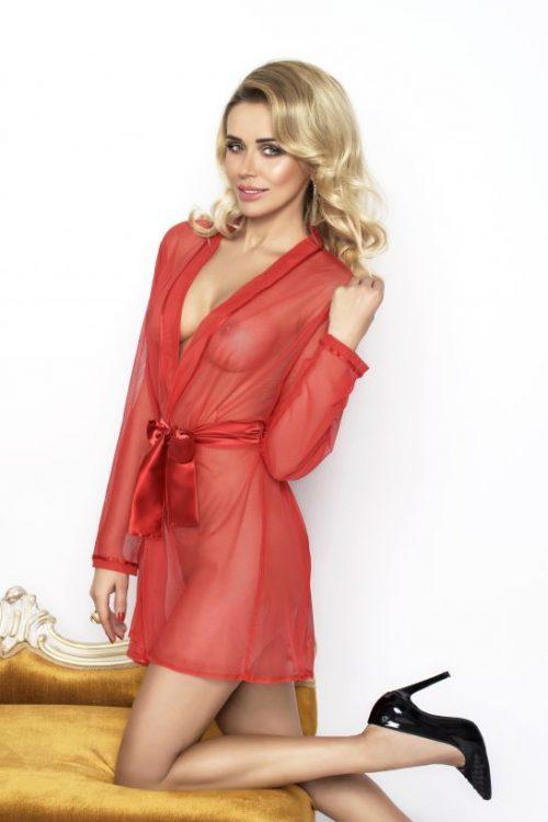 Aisha halat DKaren 500x750 - Прозрачный халат Aisha DK большого размера
