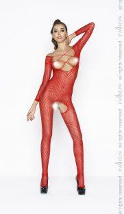 BS040 red 181x312 - Нательная сетка с длинным рукавом Passion BS040
