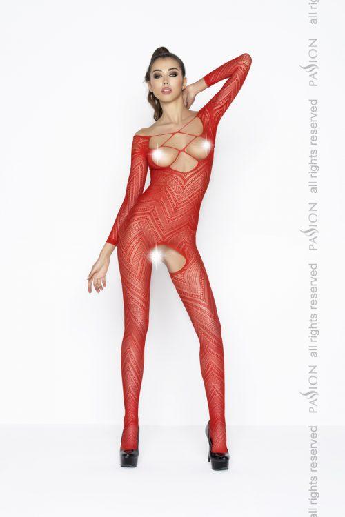 BS040 red 500x750 - Нательная сетка с длинным рукавом Passion BS040