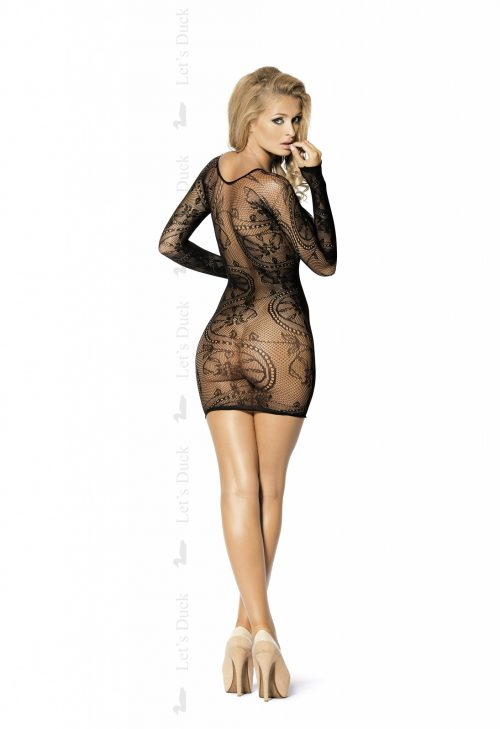 LD 79 I WANT MORE ty  500x729 - Сетчатое платье с длинным рукавом I WANT MORE