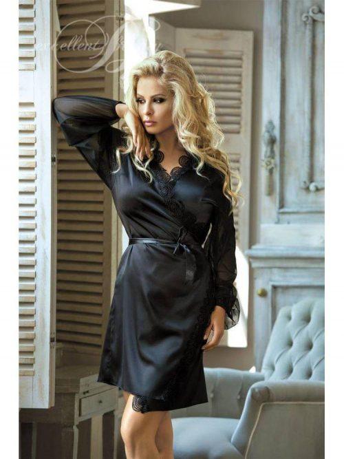 N 708 500x667 - Халат с прозрачными рукавами Excellent Beauty