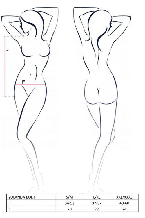 YOLANDA BODY size 500x750 - Боди с длинными рукавами YOLANDA BODY Passion большого размера