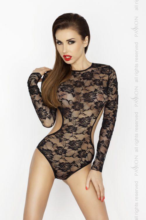 Yolanda body 500x750 - Боди с длинными рукавами YOLANDA BODY Passion большого размера