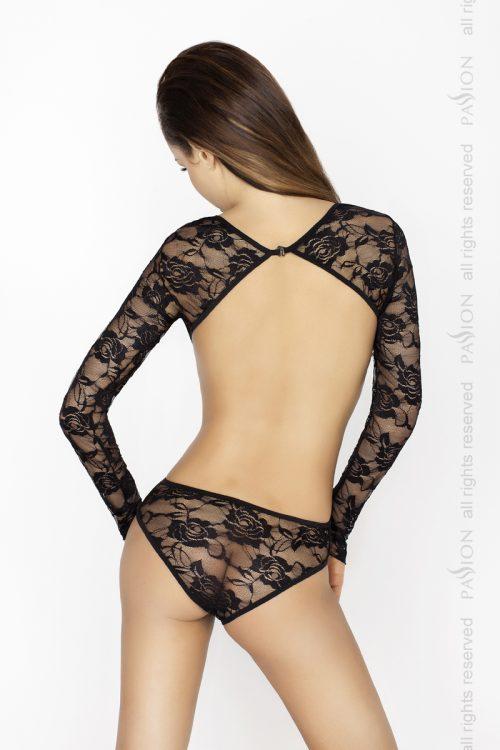 Yolanda body back 500x750 - Боди с длинными рукавами YOLANDA BODY Passion большого размера