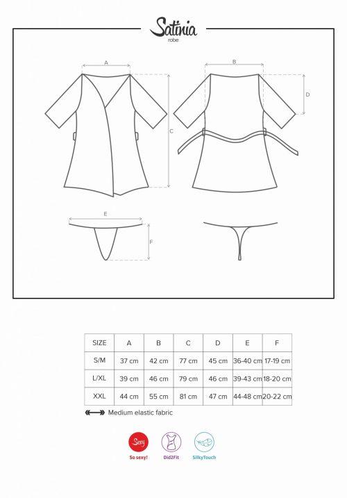 alabastra crotchless thong saiz 500x717 - Сатиновый халат  SATINIA ROBE