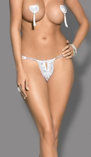 brilliant thong white 1 181x312 - Стринги с разрезом BRILLIANT THONG Obsessive