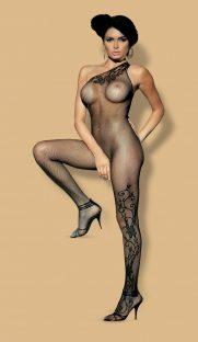 f203 black 1 181x312 - Нательная сетка с бретелью на одно плечо Obsessive