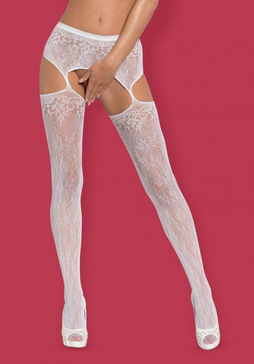 209 obsessive garter stockings s209 white 1 1 1 500x717 - Пояс с чулками Obsessive большого размера
