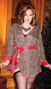 s 3752X fv 181x312 - Леопардовый халат из микрофибры большого размера