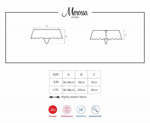 merossa shorties 1 500x411 - Стринги с разрезом MEROSSA crotchless panties Obsessive