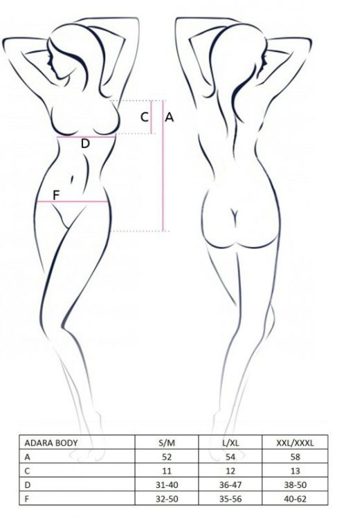 ADARA BODY  500x750 - Боди с открытой грудью ADARA BODY Passion