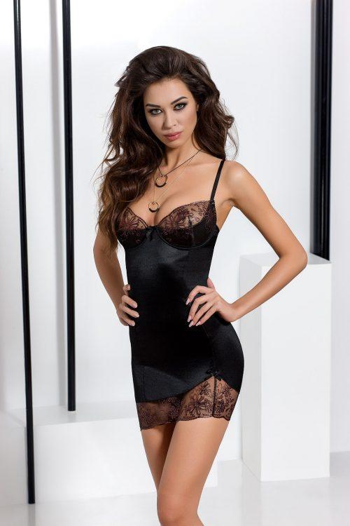 brida chemise black 500x750 - Сорочка BRIDA CHEMISE Passion большого размера