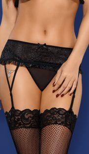 diamond garter belt black 1 181x312 - Пояс для чулок Obsessive DIAMOND garter belt
