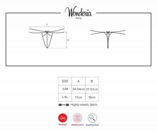 wonderia thong1 500x417 - Стринги WONDERIA THONG Obsessive