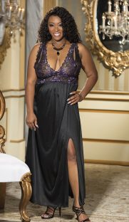 x25544 181x312 - Длинное платье с кружевным лифом большого размера