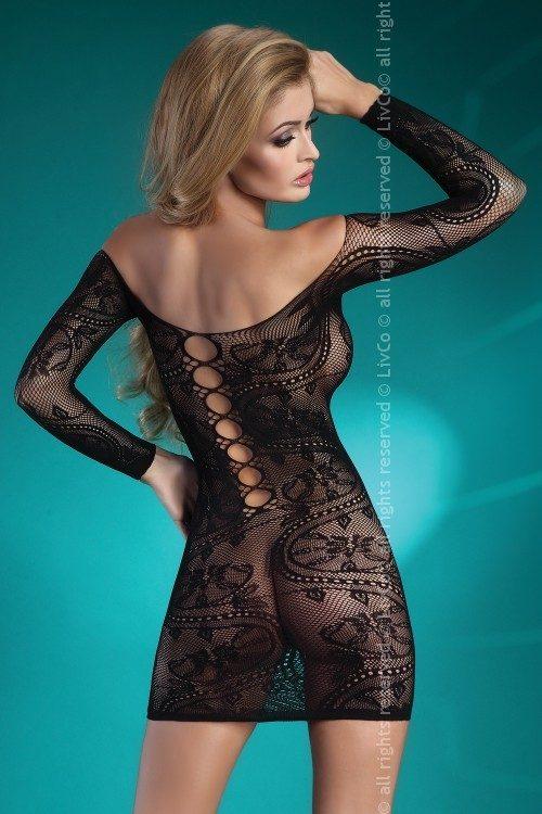 Destinee LC 1 500x750 - Откровенное мини-платье с длинными рукавами Destinee LC