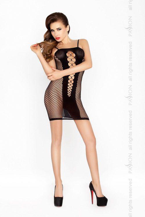 BS027 black 500x750 - Облегающее платье-нательная сетка BS027 Passion