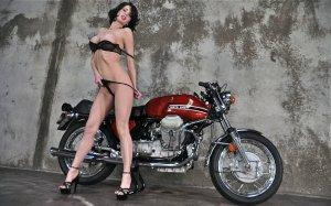 girls and moto 17 300x187 - Девушки в белье и мотоциклы: секс и драйв.
