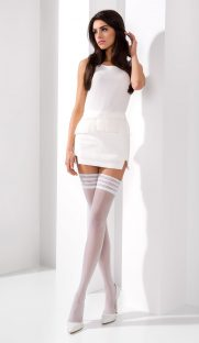 CHulki ST005 bianco  181x312 - Нежные чулки на силиконе ST005 5-XL белые  Passion