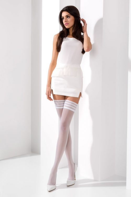 CHulki ST005 bianco  500x750 - Нежные чулки ST005 3/4 bianco  Passion