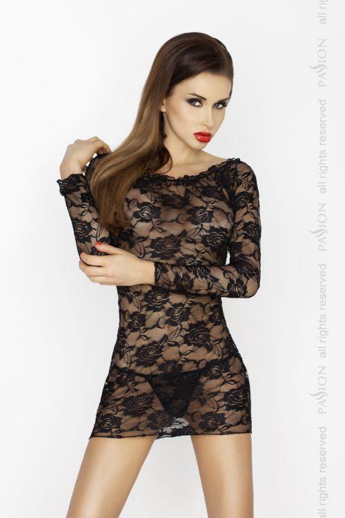 YOLANDA CHEMISE 500x750 - Кружевное платье с длинными рукавами YOLANDA CHEMISE