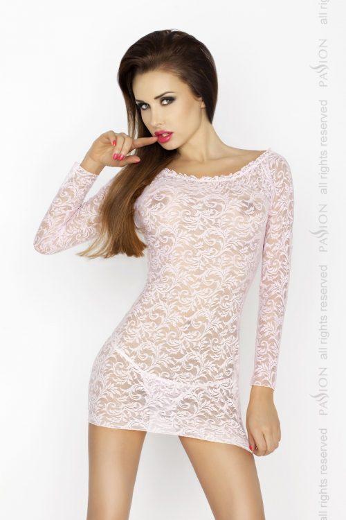 YOLANDA CHEMISE pink 500x750 - Кружевное платье с длинными рукавами YOLANDA CHEMISE