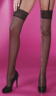 Giorgia black LC 181x312 - Чулки с кружевной резинкой Giorgia LC