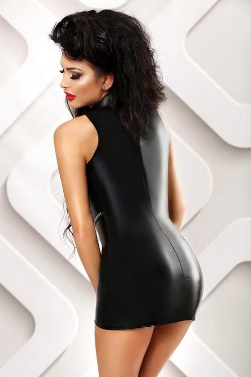 Basic Lolitta  500x750 - Латексное платье с открытым животом и молнией Basic Lolitta