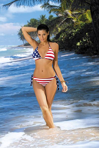 Nicki 284 Marko - Купальник с изображением американского флага Nicki Marko